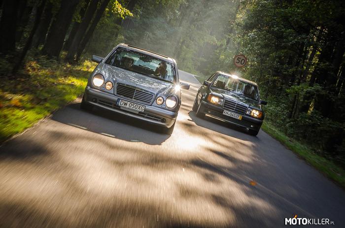 Mercedes W124 i Mercedes W211 porównanie
