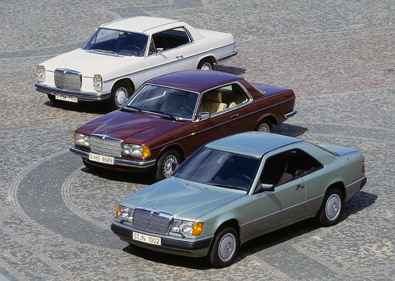 Mercedes W124 Coupe, Mercedes W123 Coupe, Mercedes W114 Coupe - porównanie