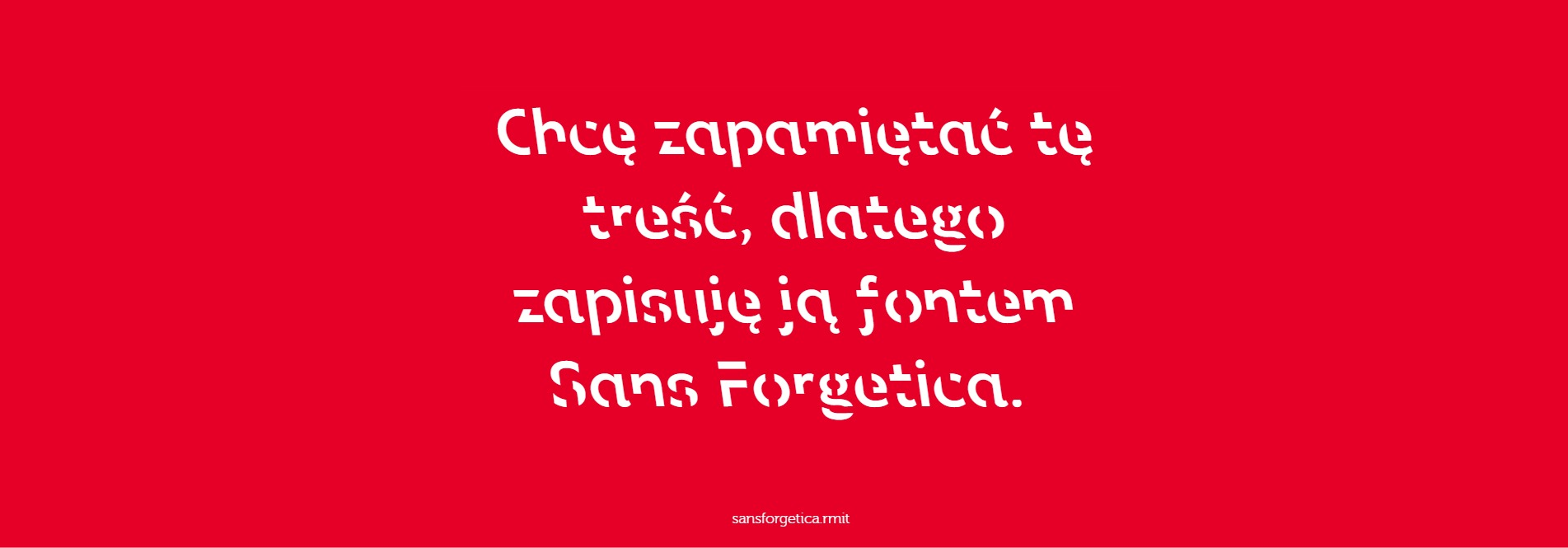 sans forgetica - test