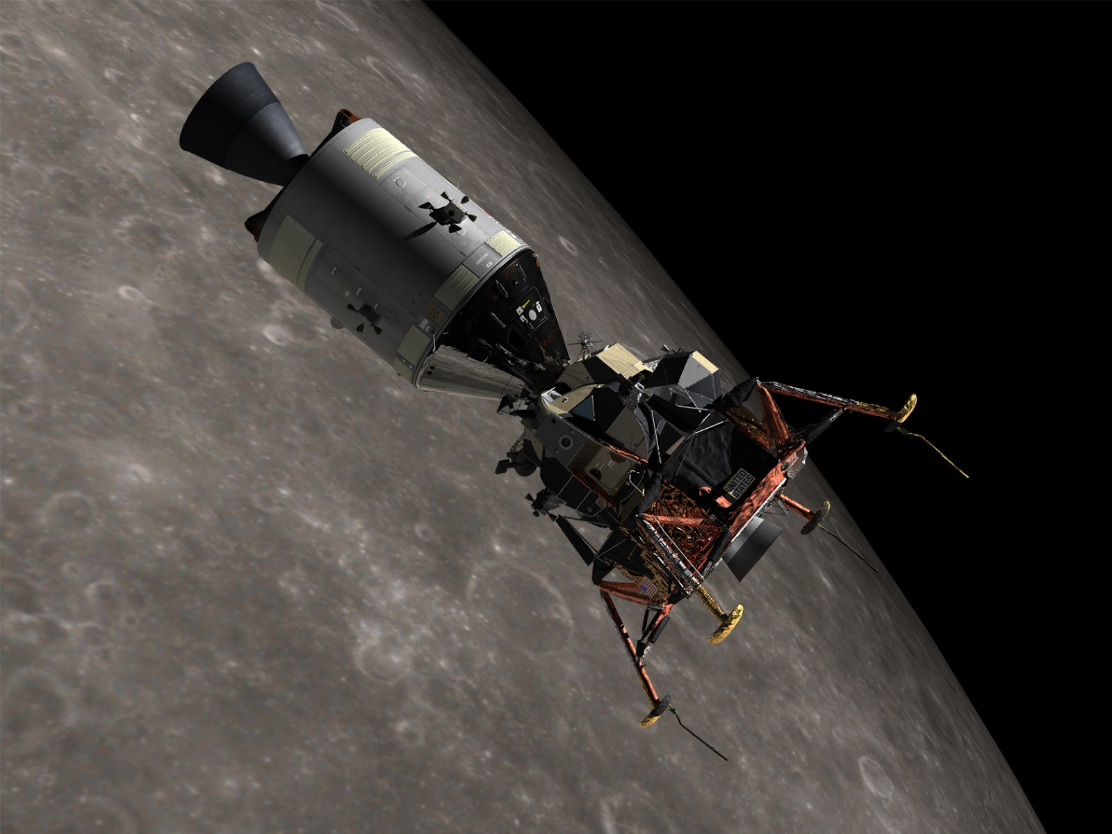 Połączenie modułów Apollo 13