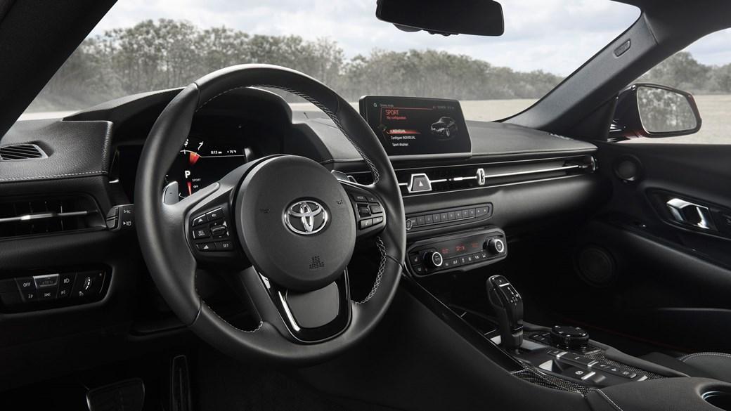 Toyota GR Supra 2019 wnętrze