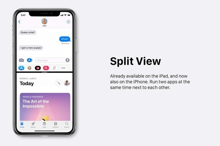iOS 13 - split screen