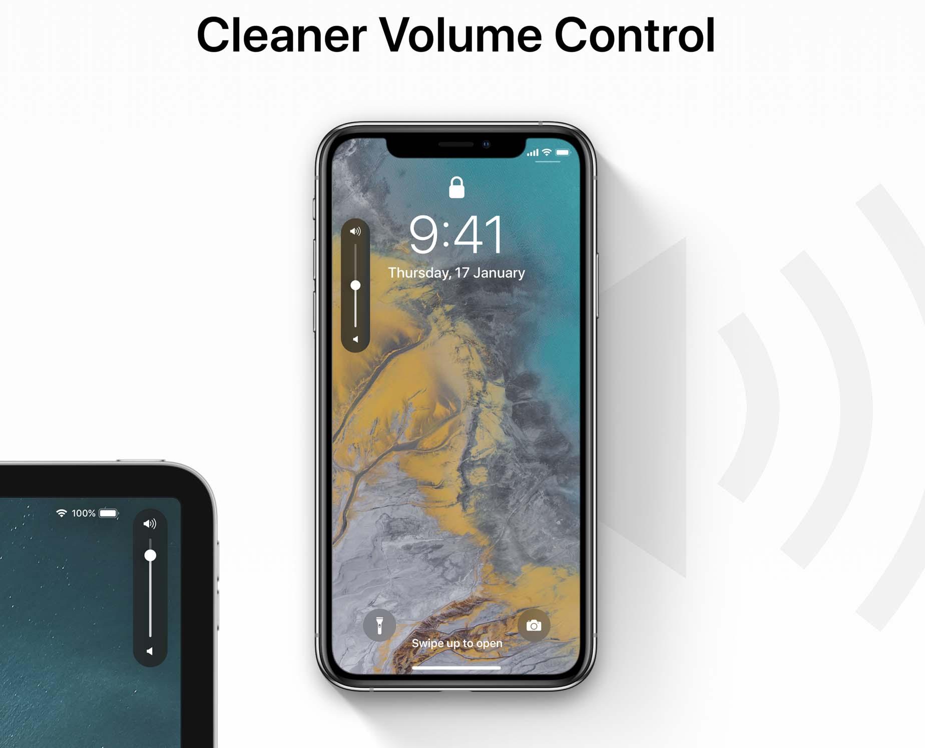 iOS 13 zmiany nowości iOS 13 kiedy premiera pasek głośności iPhone koncept