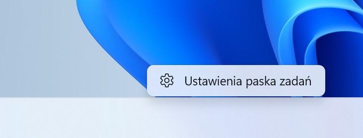 Windows 11 ustawienia paska zadań pasek zadań na lewo