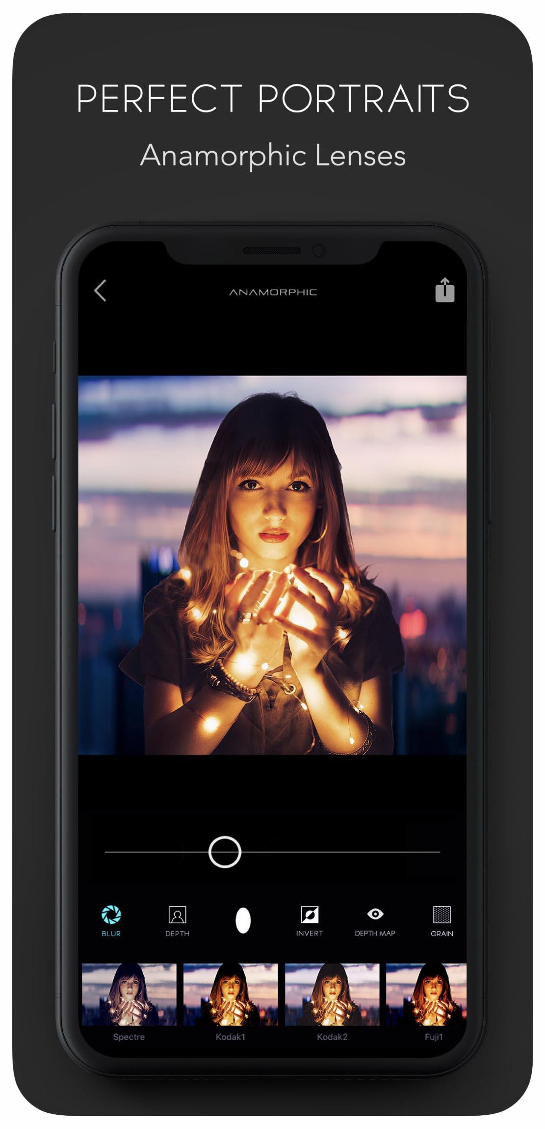 Edytor zdjęć iPhone - Anamorphic