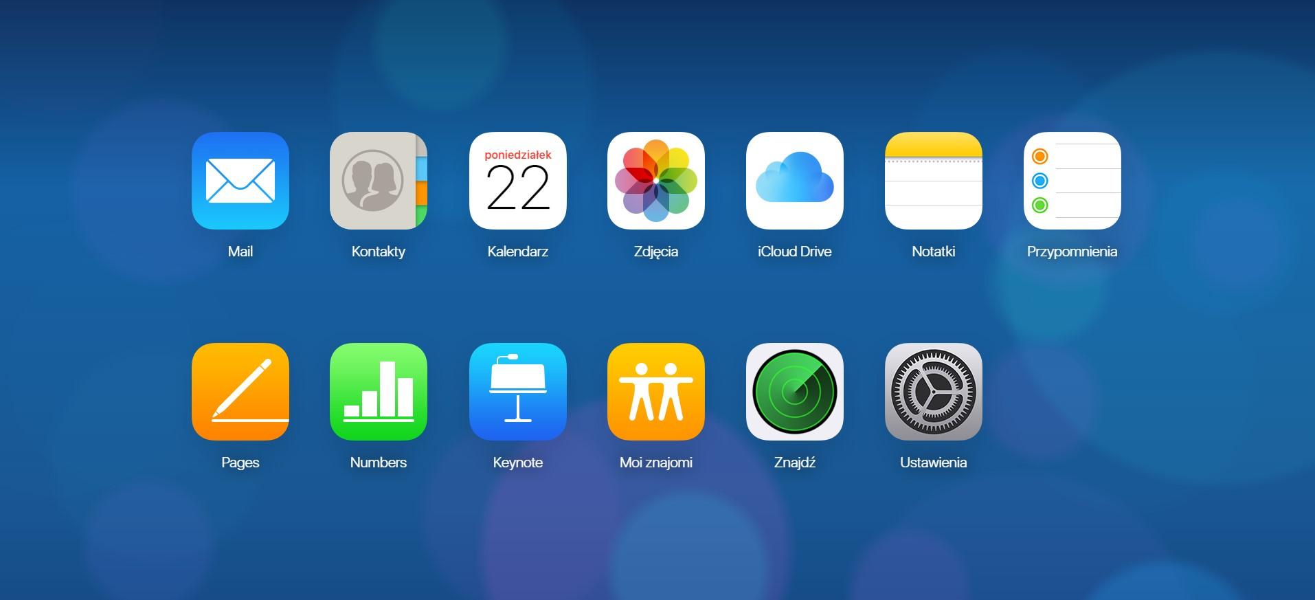 Interfejs iCloud. Jaki dysk w chmurze wybrać 2019